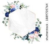 royal blue  navy garden rose ... | Shutterstock .eps vector #1889705764