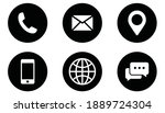 contact us icon set. collection ... | Shutterstock .eps vector #1889724304