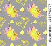 Seamless Pattern  Be My Love....