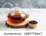 Dry Tea Leaves With Teapot On A ...