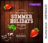 summer design. poster for... | Shutterstock .eps vector #188980655