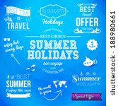 summer design. set of... | Shutterstock .eps vector #188980661
