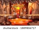 infernal dark cave with lava... | Shutterstock .eps vector #1889806717