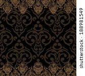 vector seamless baroque damask... | Shutterstock .eps vector #188981549