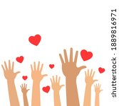 charity for people sign hand... | Shutterstock . vector #1889816971