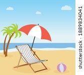 vacation concept. beach... | Shutterstock .eps vector #1889834041