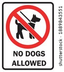 Pet Signs Walking Of Dogs...