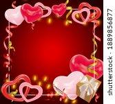 valentines day dark red...   Shutterstock .eps vector #1889856877