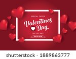 valentines day sale background... | Shutterstock .eps vector #1889863777
