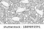 seamless pattern of lemon... | Shutterstock .eps vector #1889893591