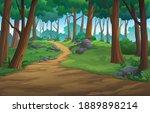 landscape forest daytime so... | Shutterstock .eps vector #1889898214