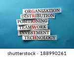 growth  acronym in business... | Shutterstock . vector #188990261