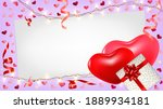 valentines day background with...   Shutterstock .eps vector #1889934181