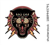 panther tattoo illustration...   Shutterstock .eps vector #1889945791
