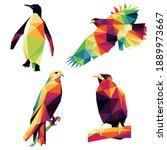 wild bird animal set in...   Shutterstock .eps vector #1889973667