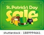 saint patrick's day sale banner ... | Shutterstock . vector #1889994661