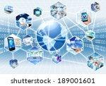 internet multimedia concept... | Shutterstock . vector #189001601