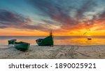Anchored Fishing Boats Near A...