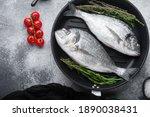Sea Bream Or Dorado Raw Fish On ...