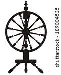 dark silhouette of a spinning... | Shutterstock . vector #189004535