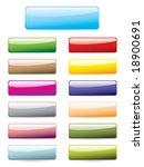 glossy button set | Shutterstock .eps vector #18900691