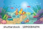 fabulous landscape with sea... | Shutterstock .eps vector #1890084694