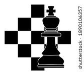 composition chess piece king on ... | Shutterstock .eps vector #1890106357