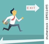 businessman running in a hurry  ... | Shutterstock .eps vector #189011495