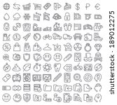 one hundred vector icons set... | Shutterstock .eps vector #189012275