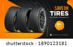 tire sale out banner template.... | Shutterstock .eps vector #1890123181