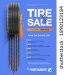 grunge tire track background... | Shutterstock .eps vector #1890123184
