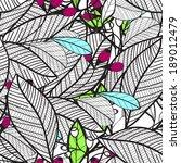 flower pattern seamless  eps 10   Shutterstock .eps vector #189012479