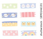 pastel concept.set of tags hand ... | Shutterstock .eps vector #1890146131