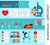 flat medical emergency first... | Shutterstock .eps vector #189015017
