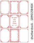 vector set of rectangular... | Shutterstock .eps vector #1890158404