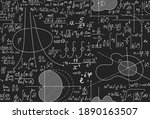 math scientific vector seamless ... | Shutterstock .eps vector #1890163507