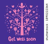 get well soon greeting card   Shutterstock .eps vector #1890222364