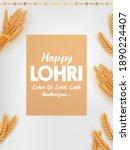 illustration of happy lohri... | Shutterstock .eps vector #1890224407