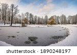 Panoramic Winter Landscape In...