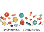 seamless horizontal pattern... | Shutterstock .eps vector #1890248407