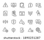 warning icons set. collection... | Shutterstock .eps vector #1890251287