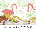 illustration of beauty and pink ... | Shutterstock . vector #189026681