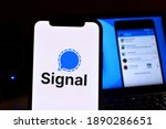 Smartphone With The Signal Logo ...