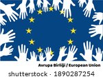 confiscating the european flag  ... | Shutterstock .eps vector #1890287254