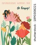 international women s day.... | Shutterstock .eps vector #1890308221