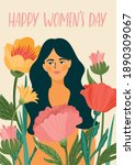 international women s day.... | Shutterstock .eps vector #1890309067