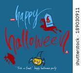 halloween poster | Shutterstock .eps vector #189030911