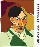 vector self portrait of famous... | Shutterstock .eps vector #1890313351