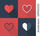 hearts icon set. flat design.