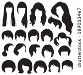 hair silhouettes  woman and man ... | Shutterstock .eps vector #189033467